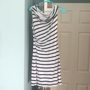 Loft navy striped dress